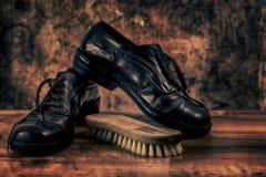 Shoes bakgrund Fotografering för Bildbyråer