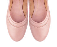 Shoes ballet flats pink female Stock Images