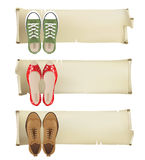 Shoes banners Royalty Free Stock Image