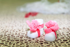 shoes for baptism Royalty Free Stock Images