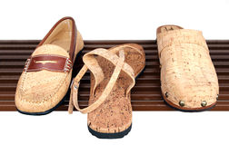 Shoes from the bark of the cork oak Royalty Free Stock Photography