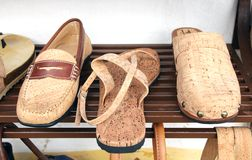 Shoes from the bark of the cork oak Royalty Free Stock Photo