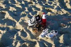 Shoes on the beach in Laguna Beach, California. Stock Photography