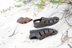 Shoes on the beach - Pensacola Beach, Florida, USA Stock Photography