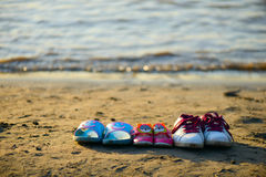 Shoes on beach Stock Image