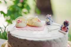 Shoes and Bears on Cake Stock Photo