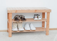 Shoes bench Royalty Free Stock Photography