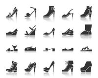 Free Shoes Black Silhouette Icons Vector Set Royalty Free Stock Photography - 121660197