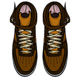 Shoes, boots, vector illustration Stock Photography