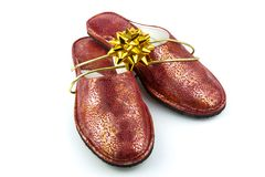 Shoes with bow Royalty Free Stock Photo