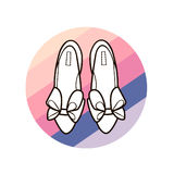 Shoes with bows Royalty Free Stock Images
