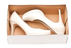 Shoes in box Royalty Free Stock Photos