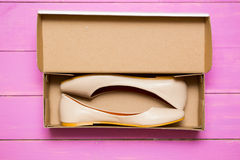 Shoes in a box Royalty Free Stock Photography