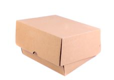 Shoes box is located on the white background. See my other works in portfolio Stock Images