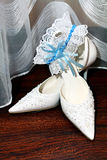 Shoes for bride Royalty Free Stock Image