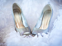 Shoes for the bride. Wedding shoes for the bride Royalty Free Stock Photography