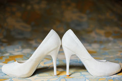Shoes for the bride Stock Images