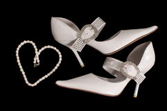 Shoes of the bride. Stock Image