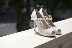 Shoes from bride Stock Photography
