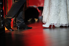 Shoes the bride and groom Stock Photo