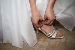 Shoes bride Stock Photo