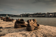 Shoes in Budapest Royalty Free Stock Image