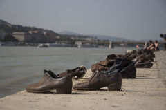 Shoes of budapest royalty free stock photography