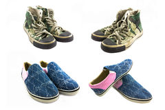 Shoes camouflage isolated Royalty Free Stock Image