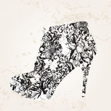 Shoes card concept Royalty Free Stock Photography