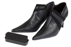 Shoes care Stock Image
