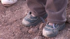 Shoes of children stock video footage