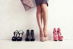 Shoes choice Royalty Free Stock Images