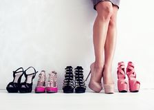 Shoes choice Stock Photo
