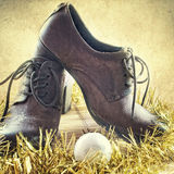 Shoes, Christmas gifts. Close up photo Stock Photography
