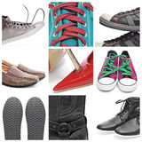 Shoes collage Stock Image