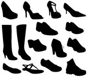 Shoes Collection Vector Royalty Free Stock Photography