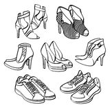 Shoes Collection Stock Photo