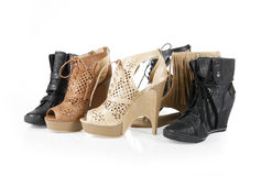 Shoes collections Stock Images