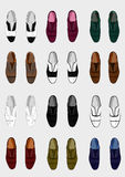 Shoes and colors Royalty Free Stock Photography