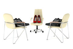 Shoes. Concept render Stock Photos