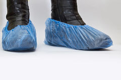 Shoes coverson. On white background Royalty Free Stock Images