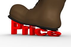 Shoes crushes high cost Stock Images