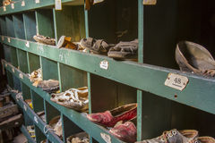Shoes in cubby Stock Photo