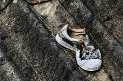 Shoes. Damage lack fray Royalty Free Stock Images