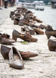Shoes on the Danube bank, memorial in Budapest, Hungary Royalty Free Stock Photography