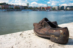 Shoes on the Danube Bank monument in Budapest, Hungary Stock Photo