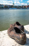 Shoes on the Danube Bank monument in Budapest, Hungary Royalty Free Stock Photos