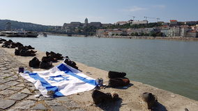 Shoes on the Danube in budapest Royalty Free Stock Photo