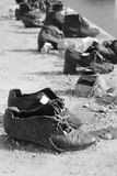 `Shoes on the Danube` memorial, Budapest, Hungary royalty free stock images