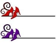 shoes den höga logoen för hälet rengöringsduk royaltyfri illustrationer
